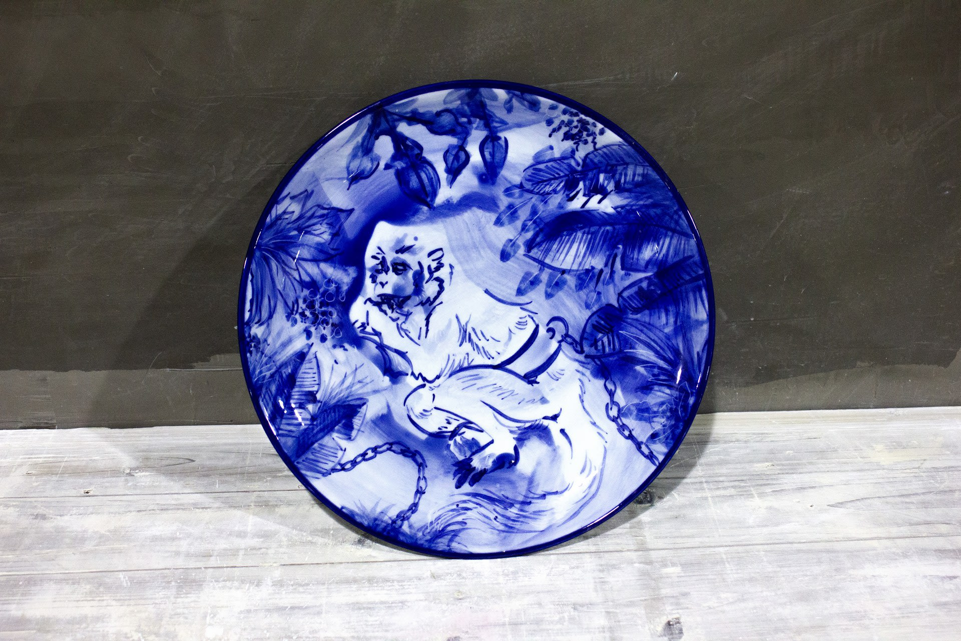 Blue Moneky Plate