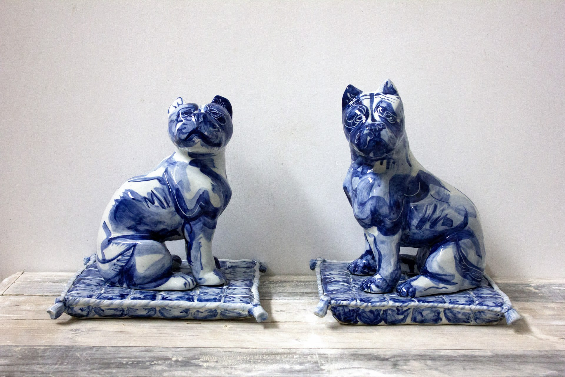 Blue Staffie pair