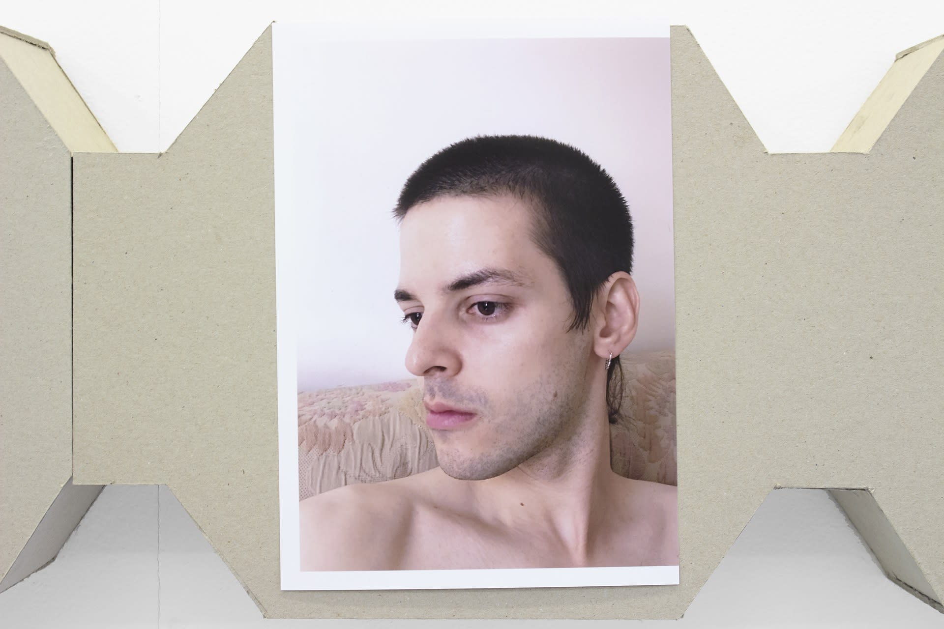 Coffin (five age-shifted selfies)
