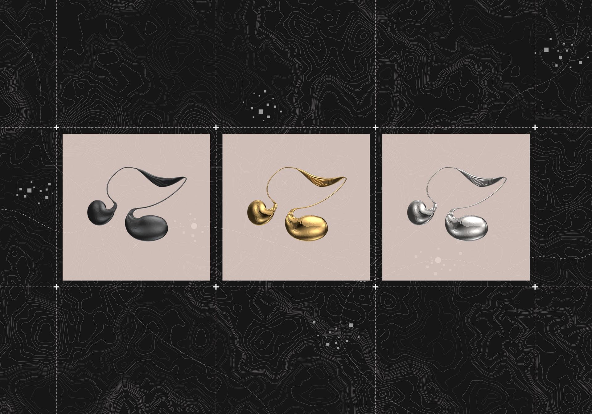 Optional Finishes of Wearable Neckpiece