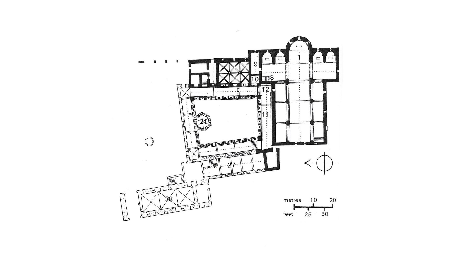 Thoronet Abbey plan - source: https://www.plans-reliefs.monuments-nationaux.fr