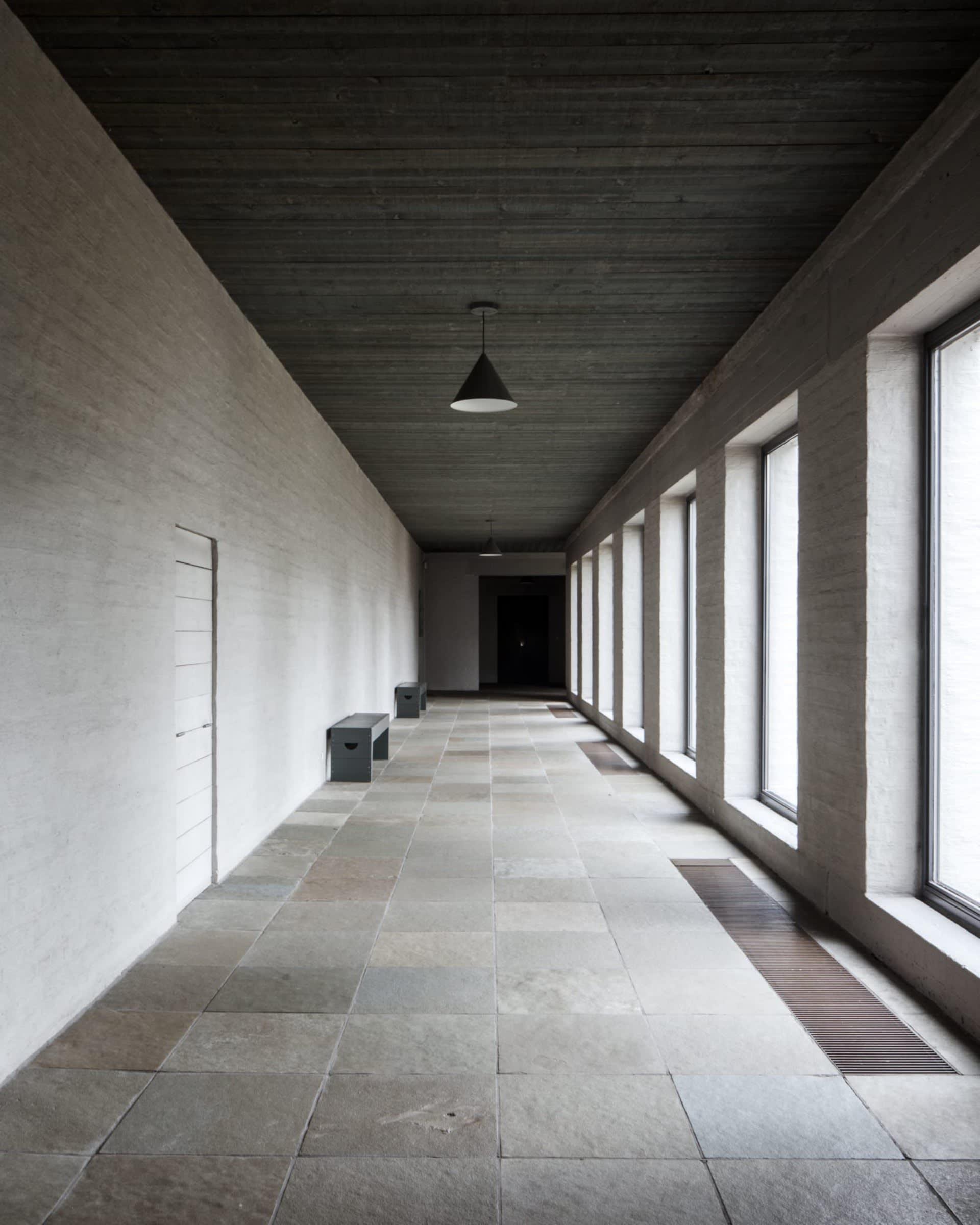 Hans van der Laan - Corridor at Saint Benedict Abbey (source: https://divisare.com/projects/368522-dom-hans-van-der-laan)