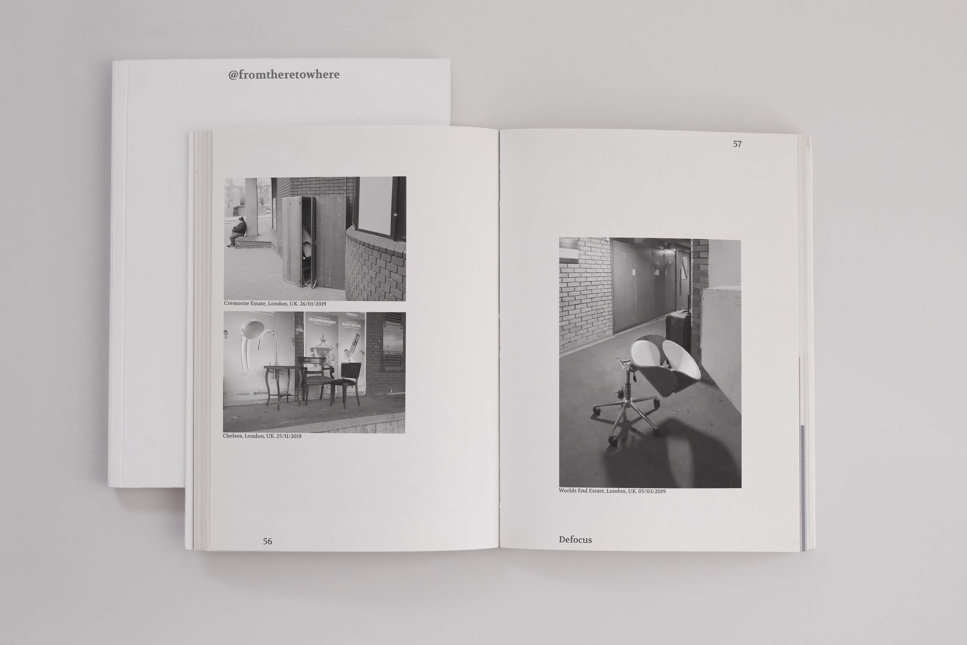 Research book: abandoned furniture