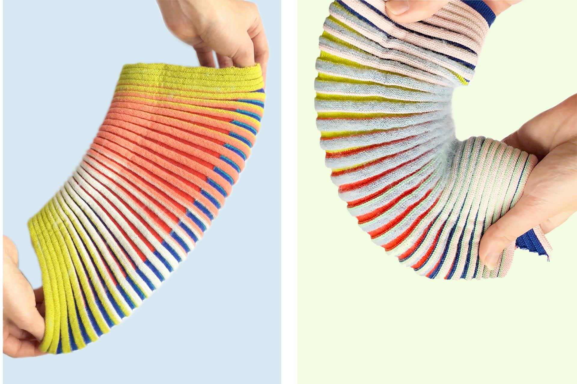Shima Seiki Garter Stitch and Intarsia Knit Samples