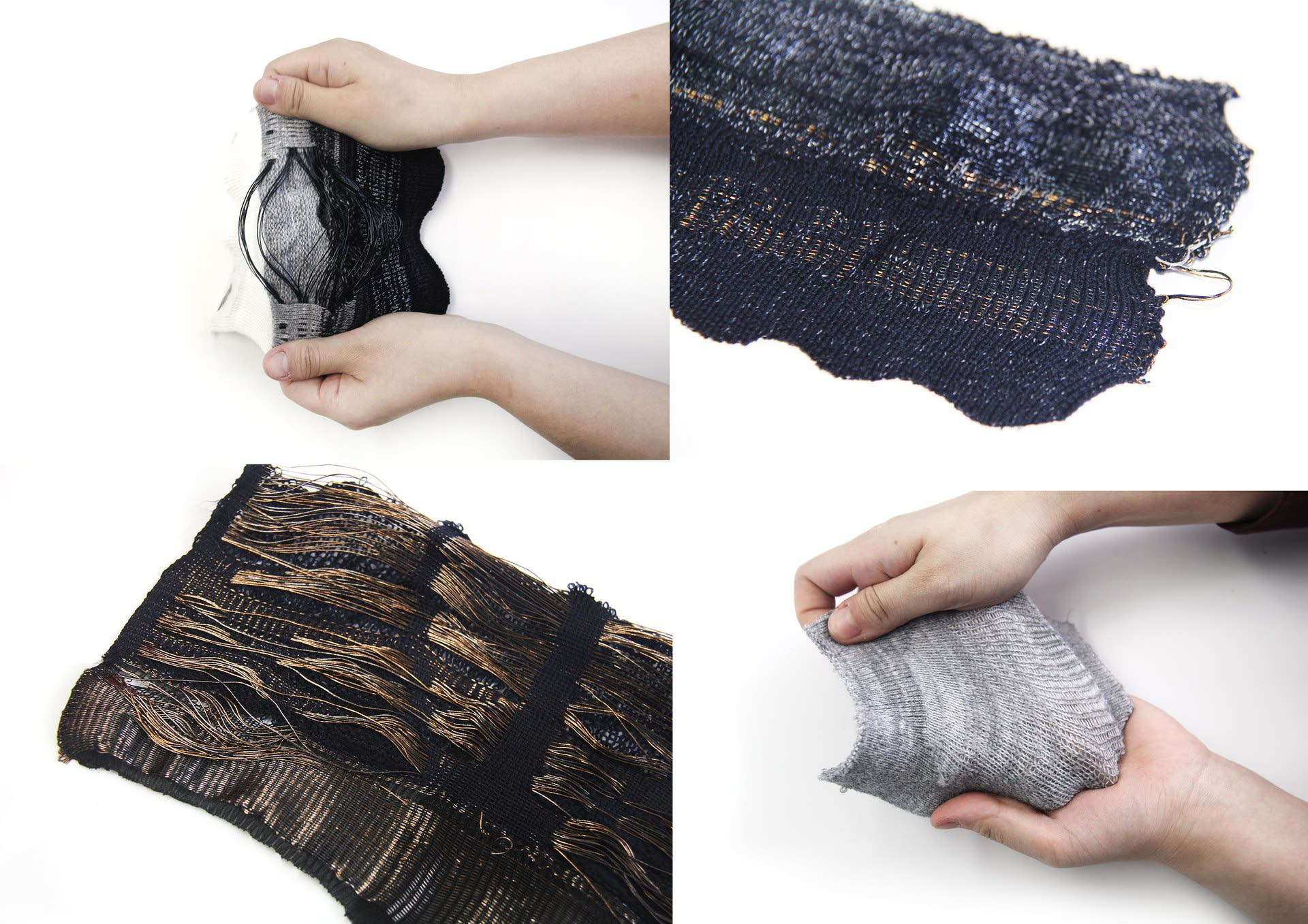 Material experiment- textile integrated with optical fibre