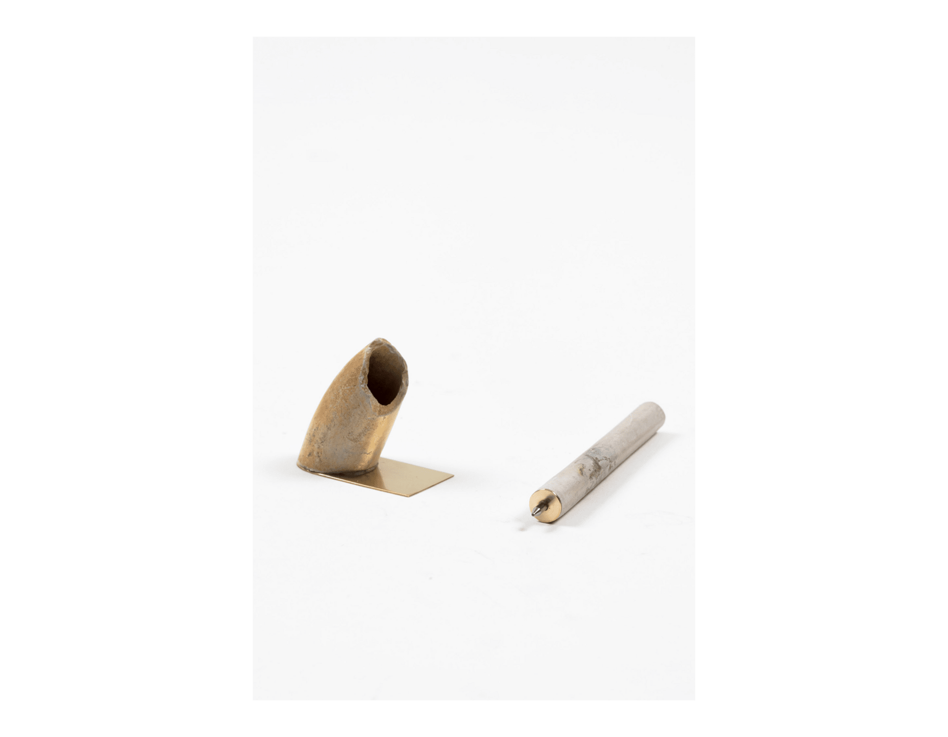Pen and holder from clay pipe