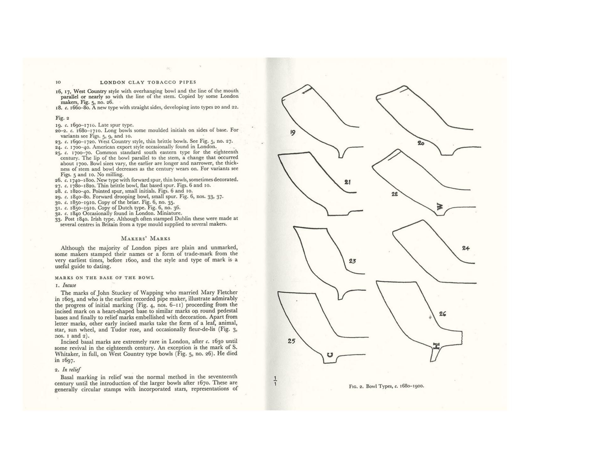 Clay pipe book — Atkinson & Oswald