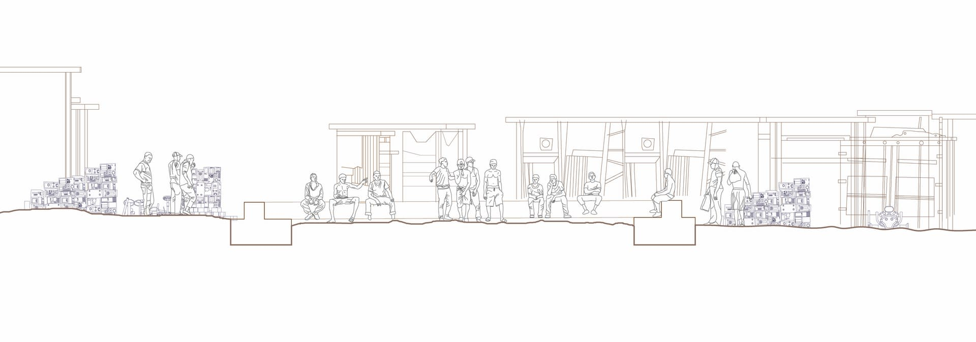 Frame Plinth - Illustrative cross section