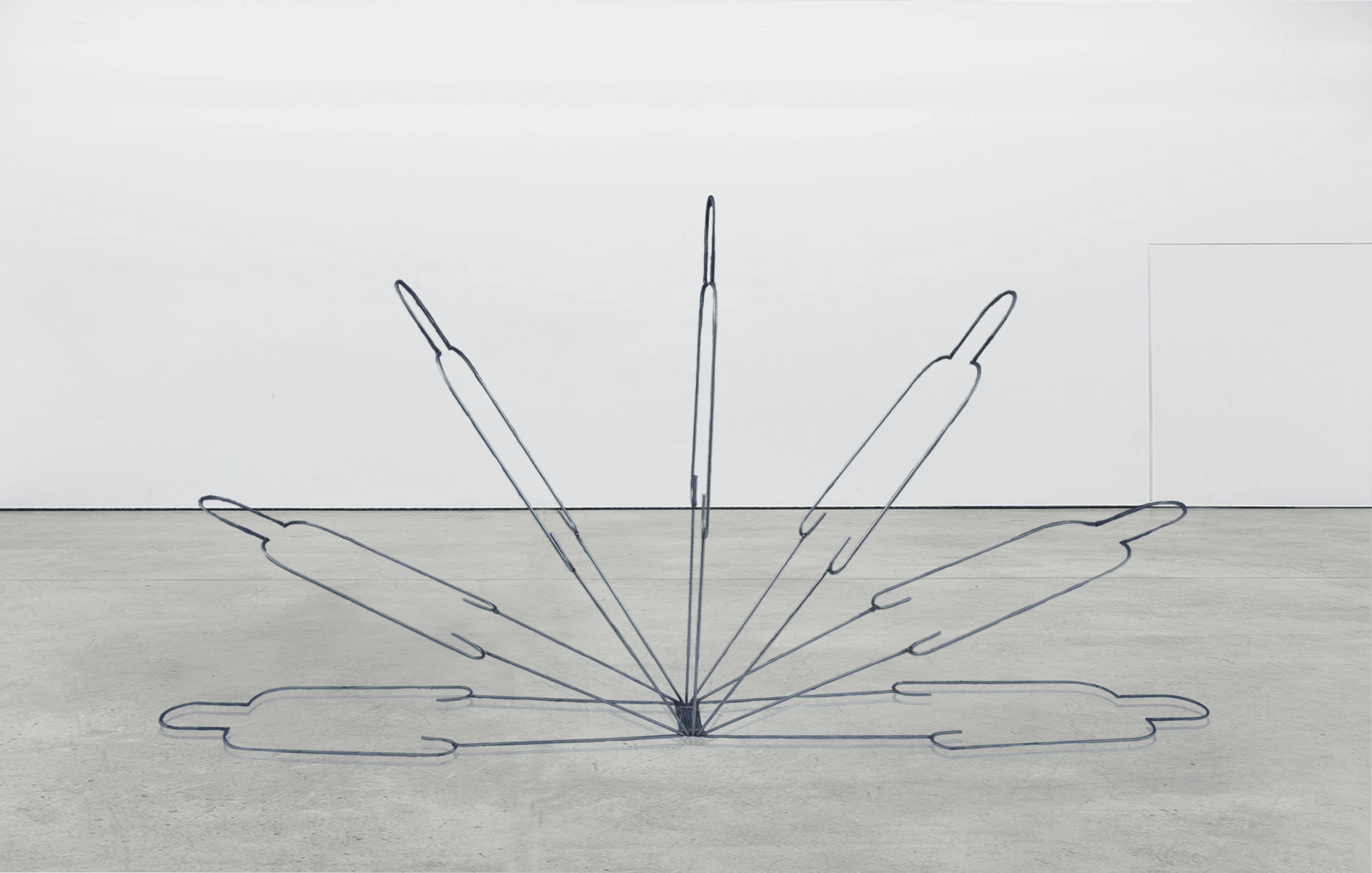 'Transition' — Welded high tensile steel rod — 320 x 160 x 50 cm