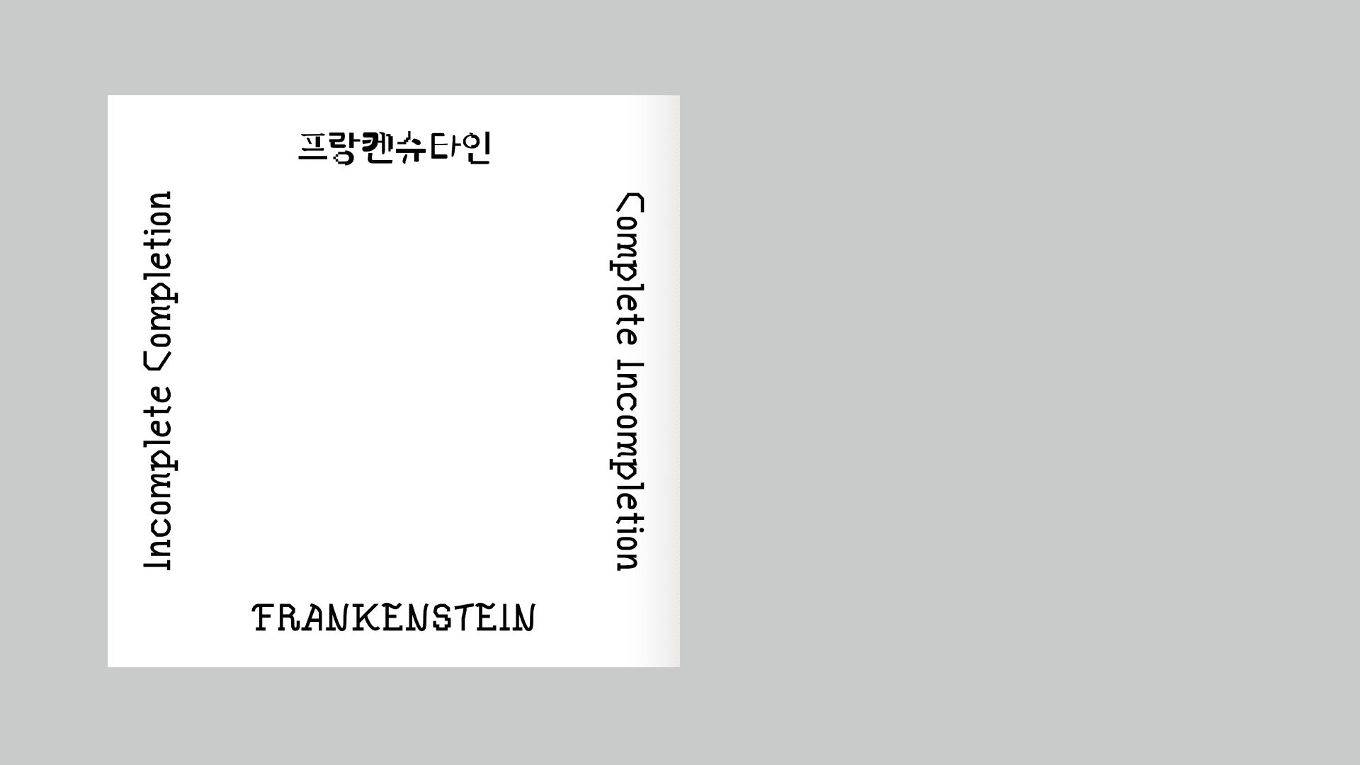 Frankenstein Object Booklet