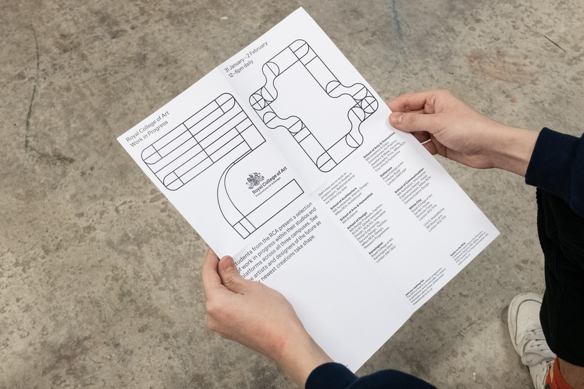 Leaflet Unfolded – 280 × 360mm