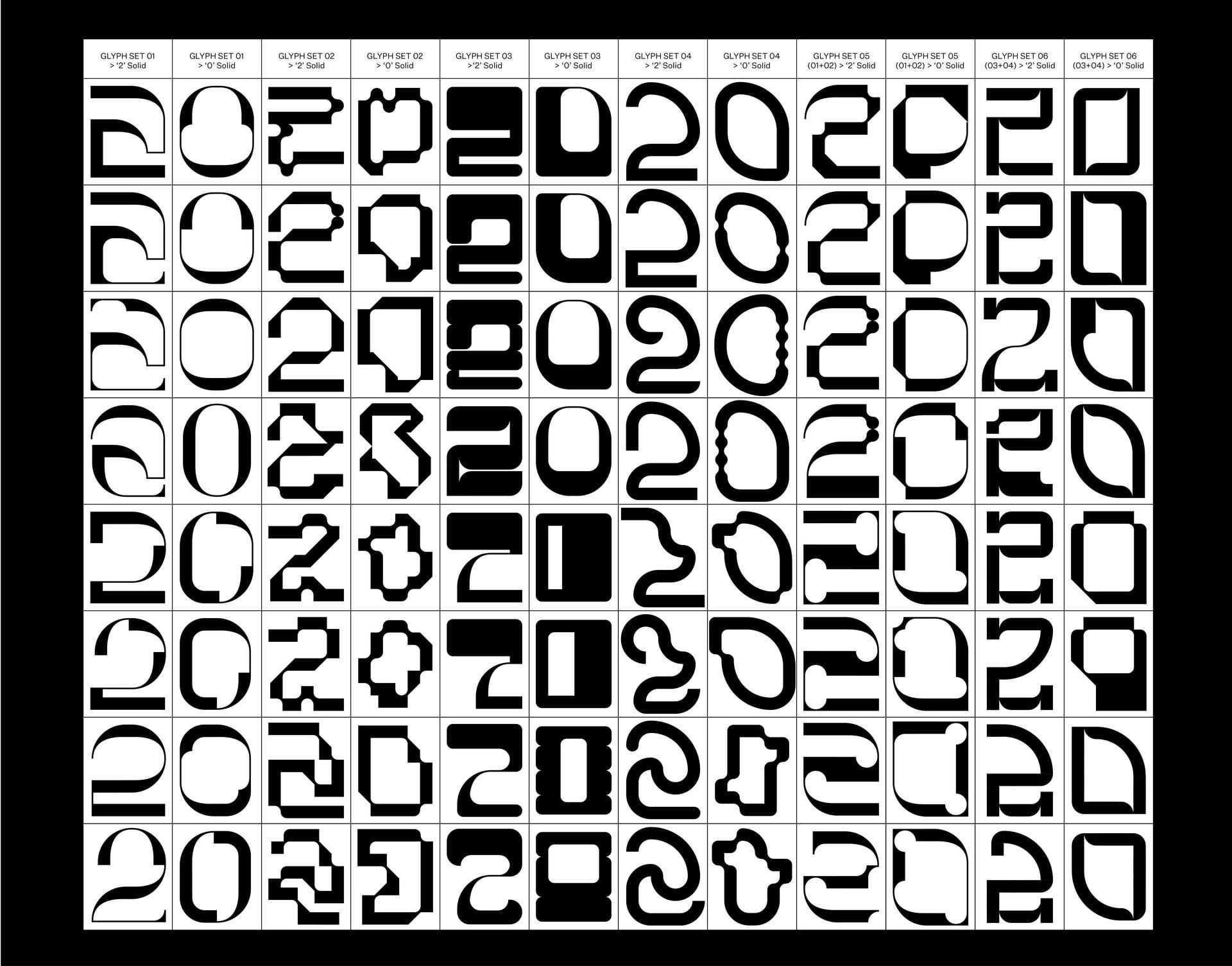 Refined Glyph Set