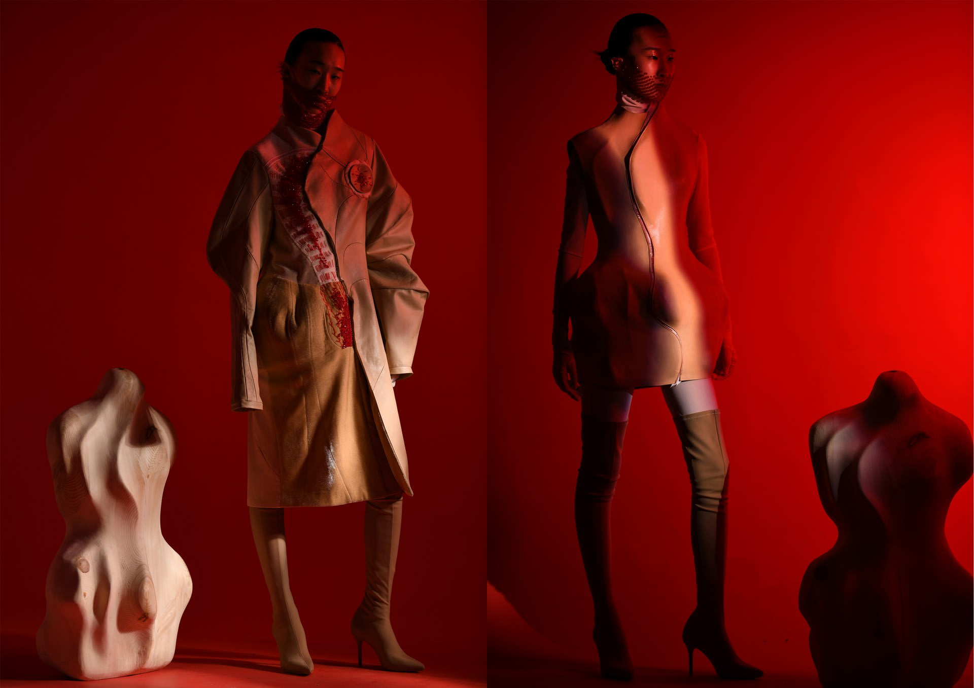 The photography of variation garments collection look 1&2