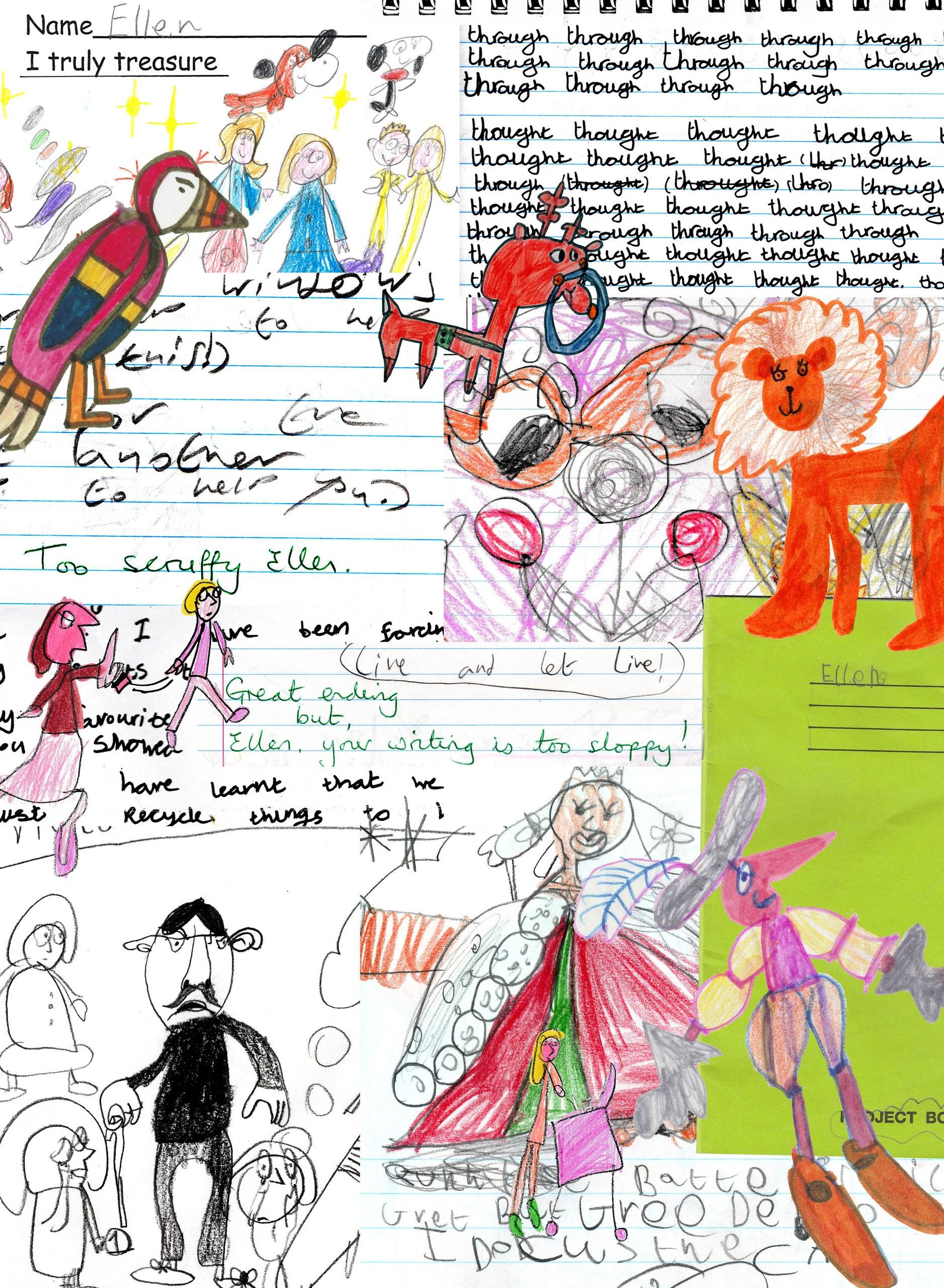 Childhood Drawings and Workbooks