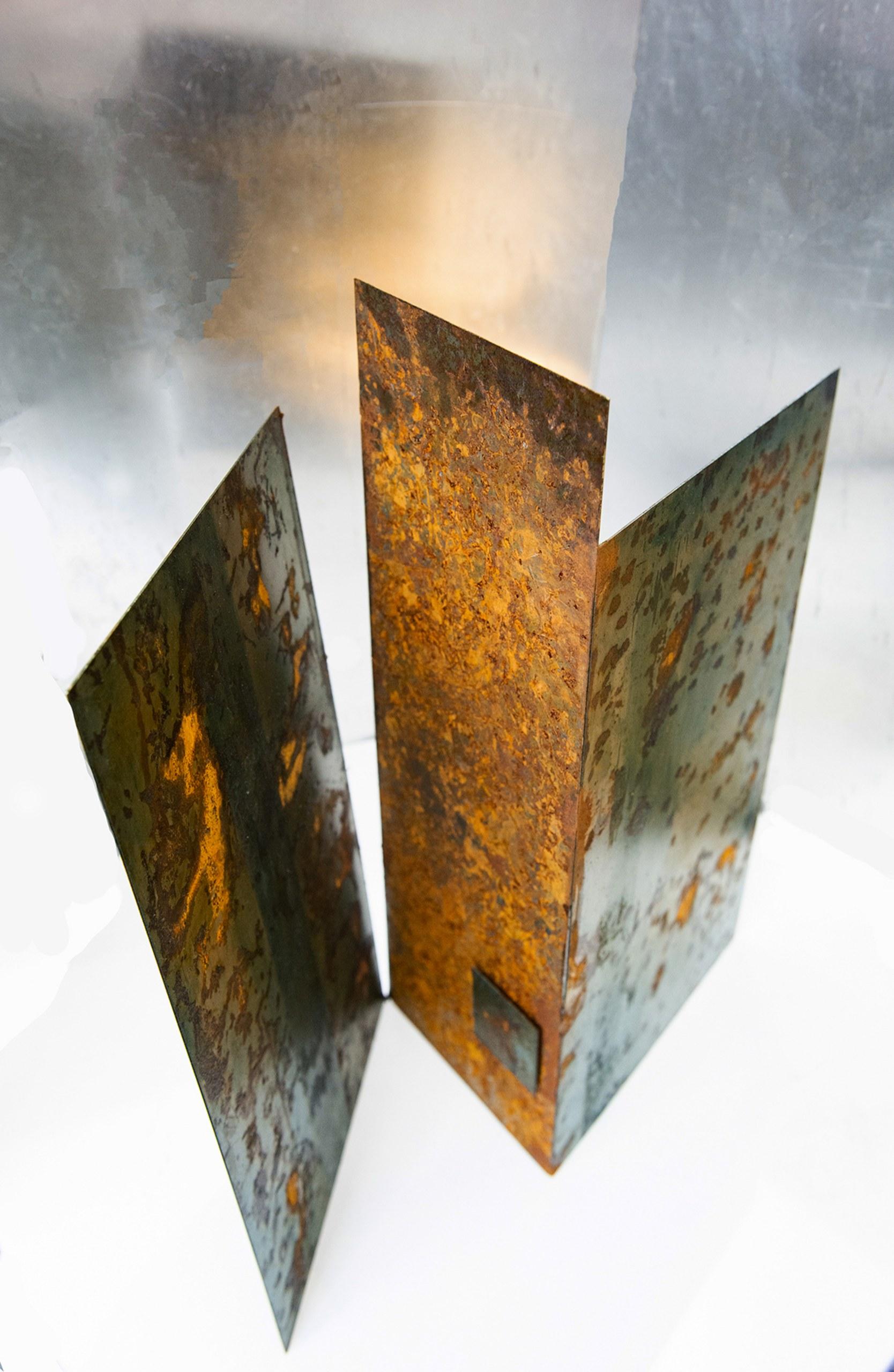 SYMBIOSIS I:  steel, organic matte, h.47cms,w 50cms,d17cms