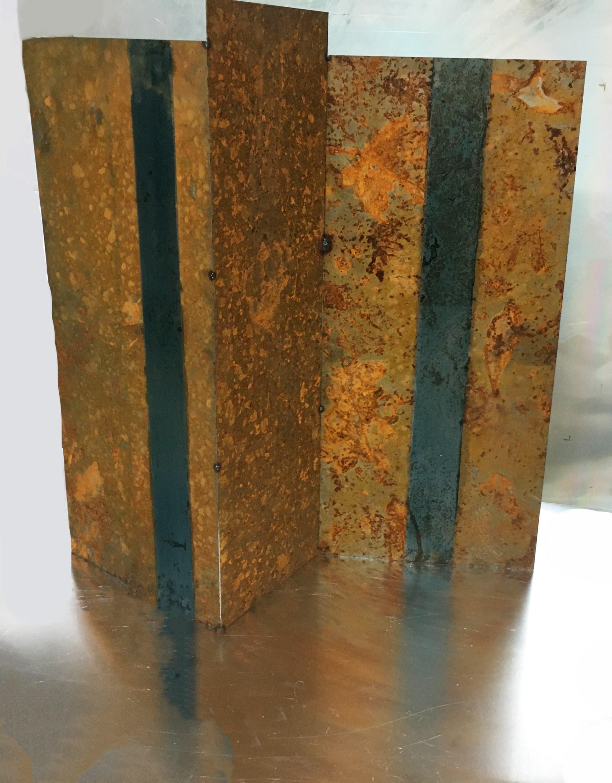 SYMBIOSIS III:   Steel organic matter, h54cms,w.46cms,d15cms