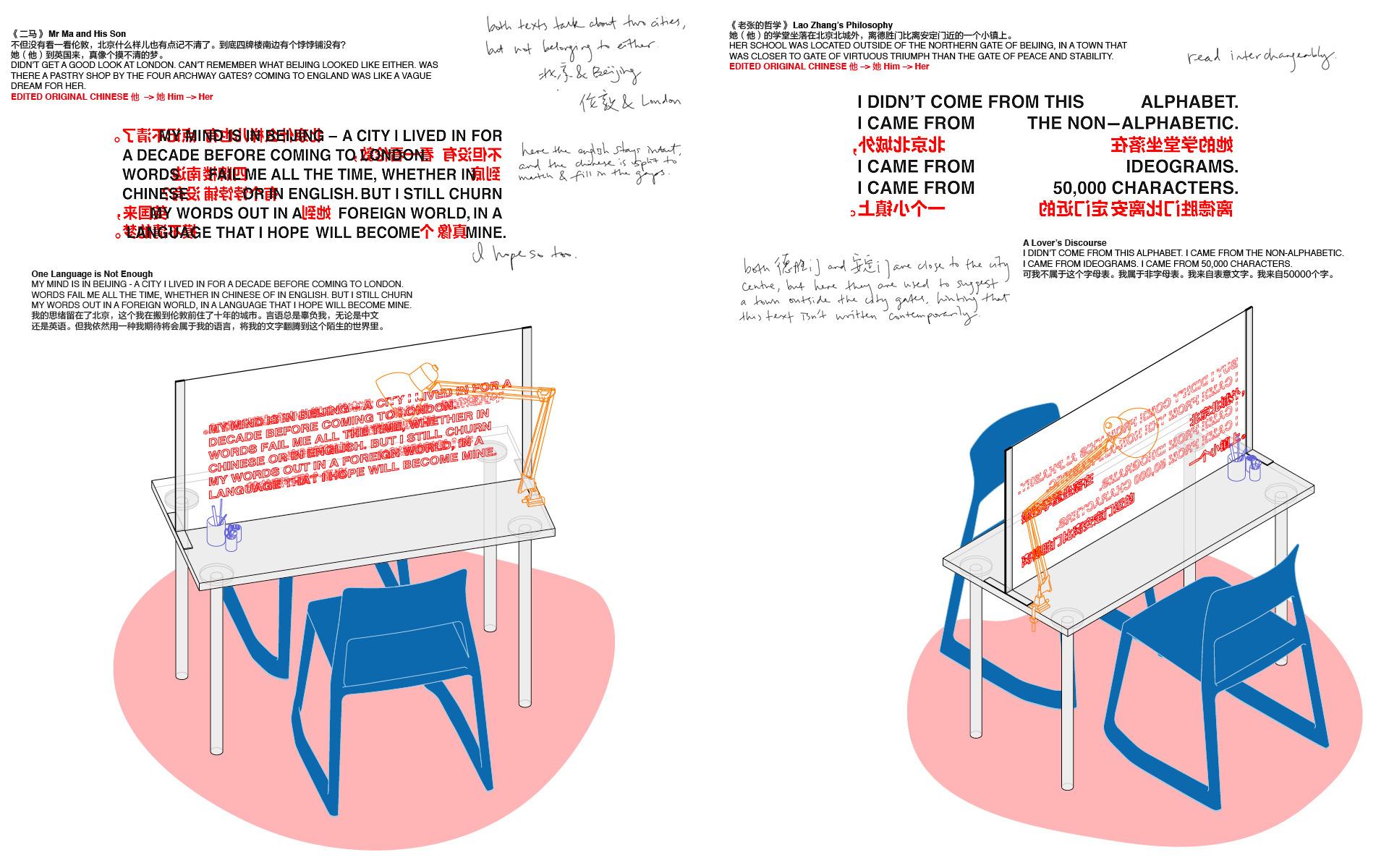 150cm desks, set up for participatory sewing