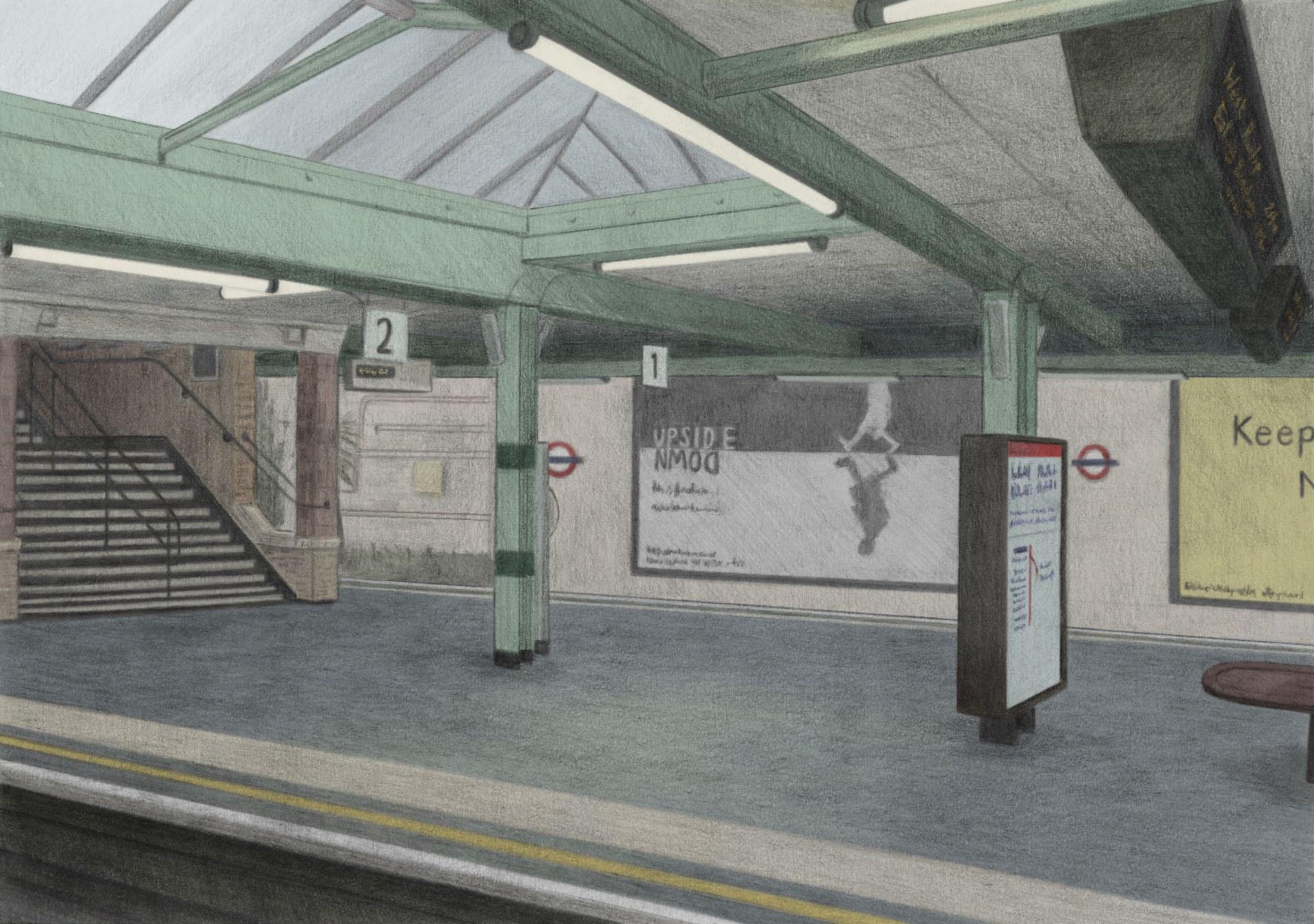 Platform at White City Station