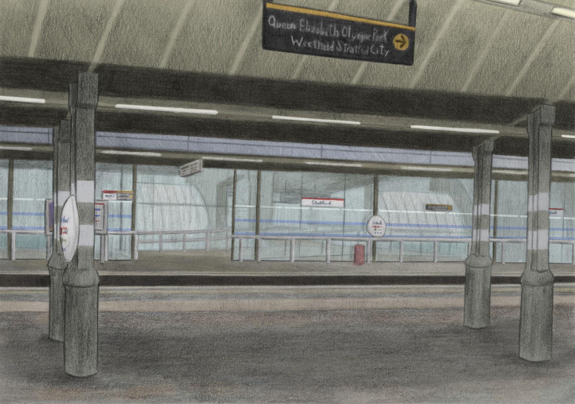 Platform at Stratford Station