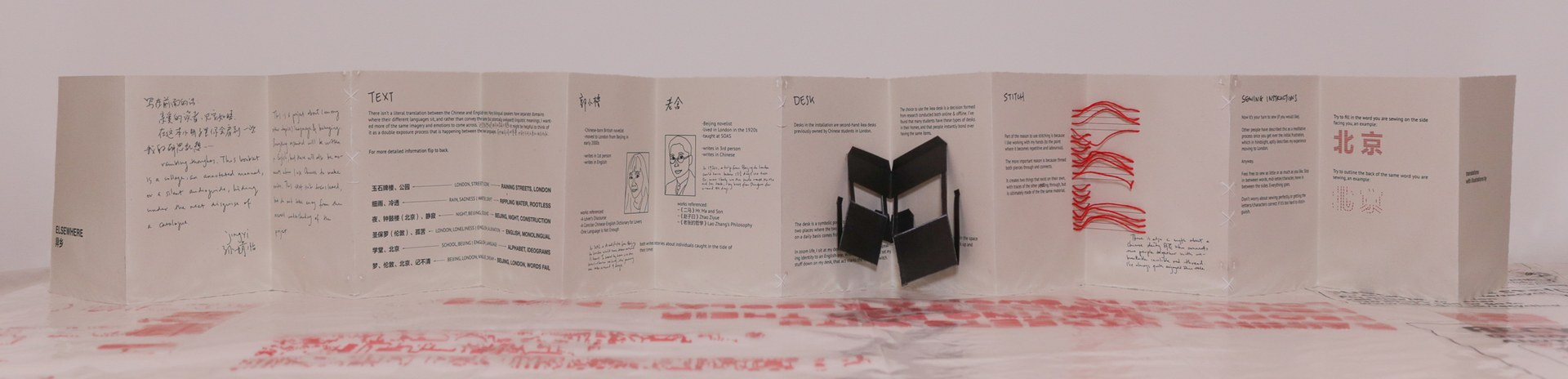 physical copy of booklet, one side detailing overall themes