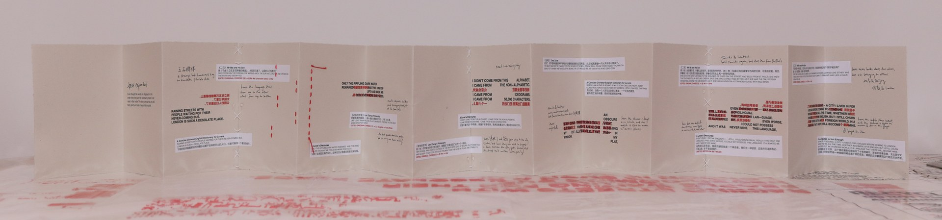 physical copy of booklet, other side with text translations