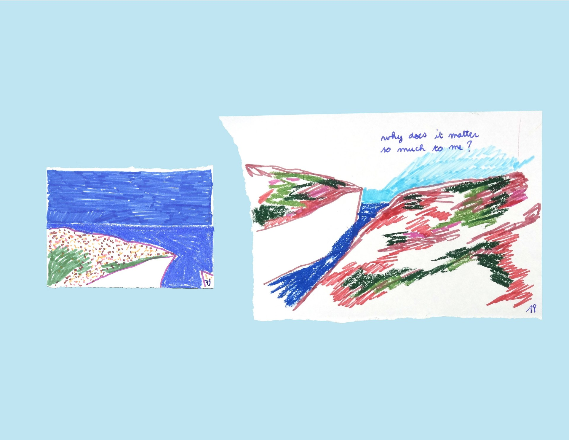 Fragments of Memory - the same memory drawn on different days (1)