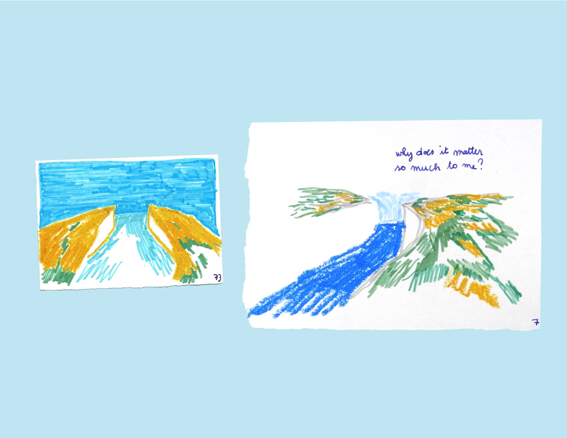 Fragments of Memory - the same memory drawn on different days (2)
