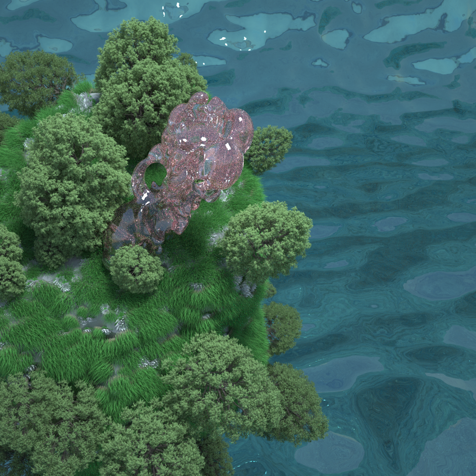 Floating artificial island