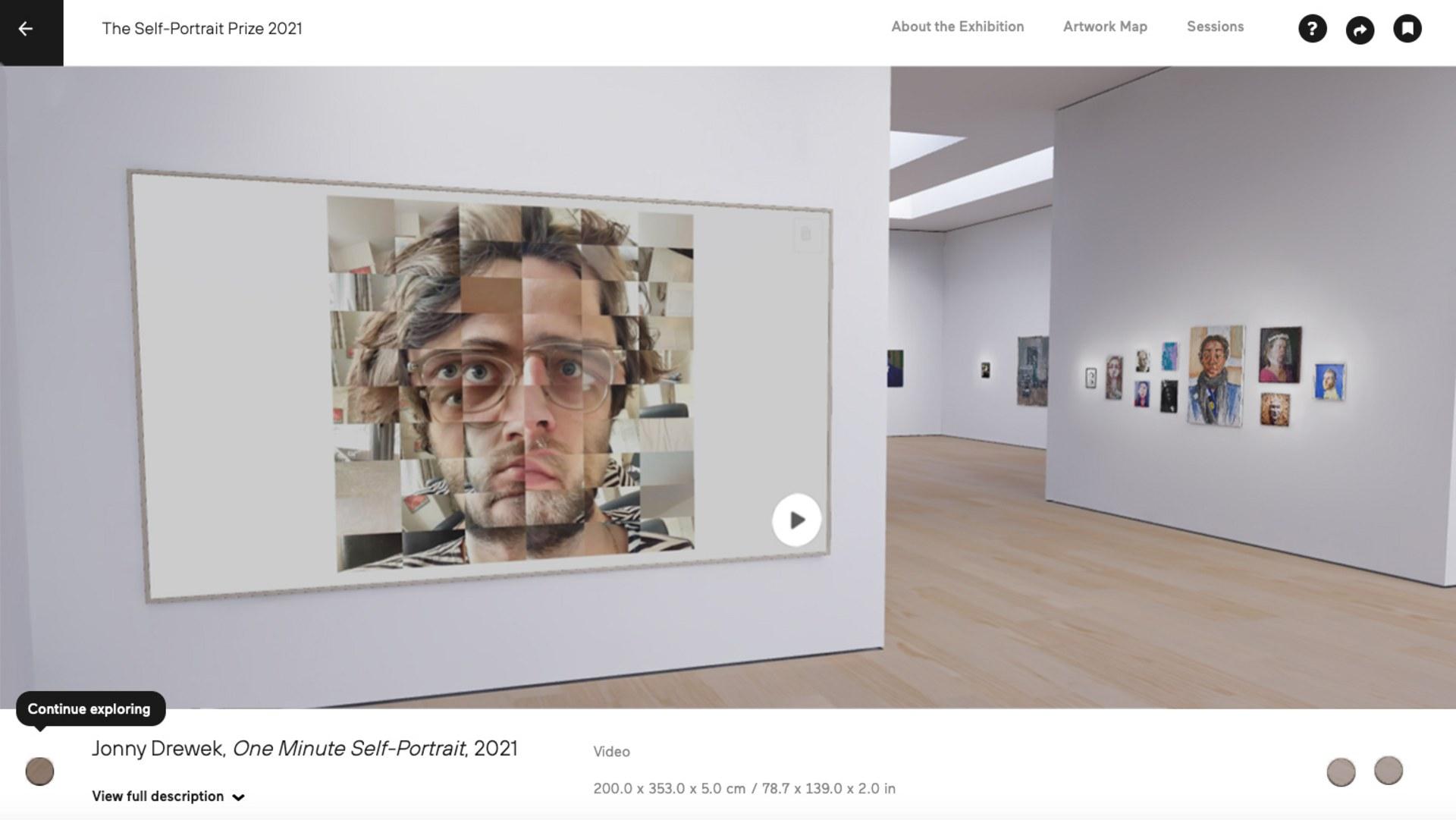 Self Portrait Prize 2021  - Ruth Borchard Collection