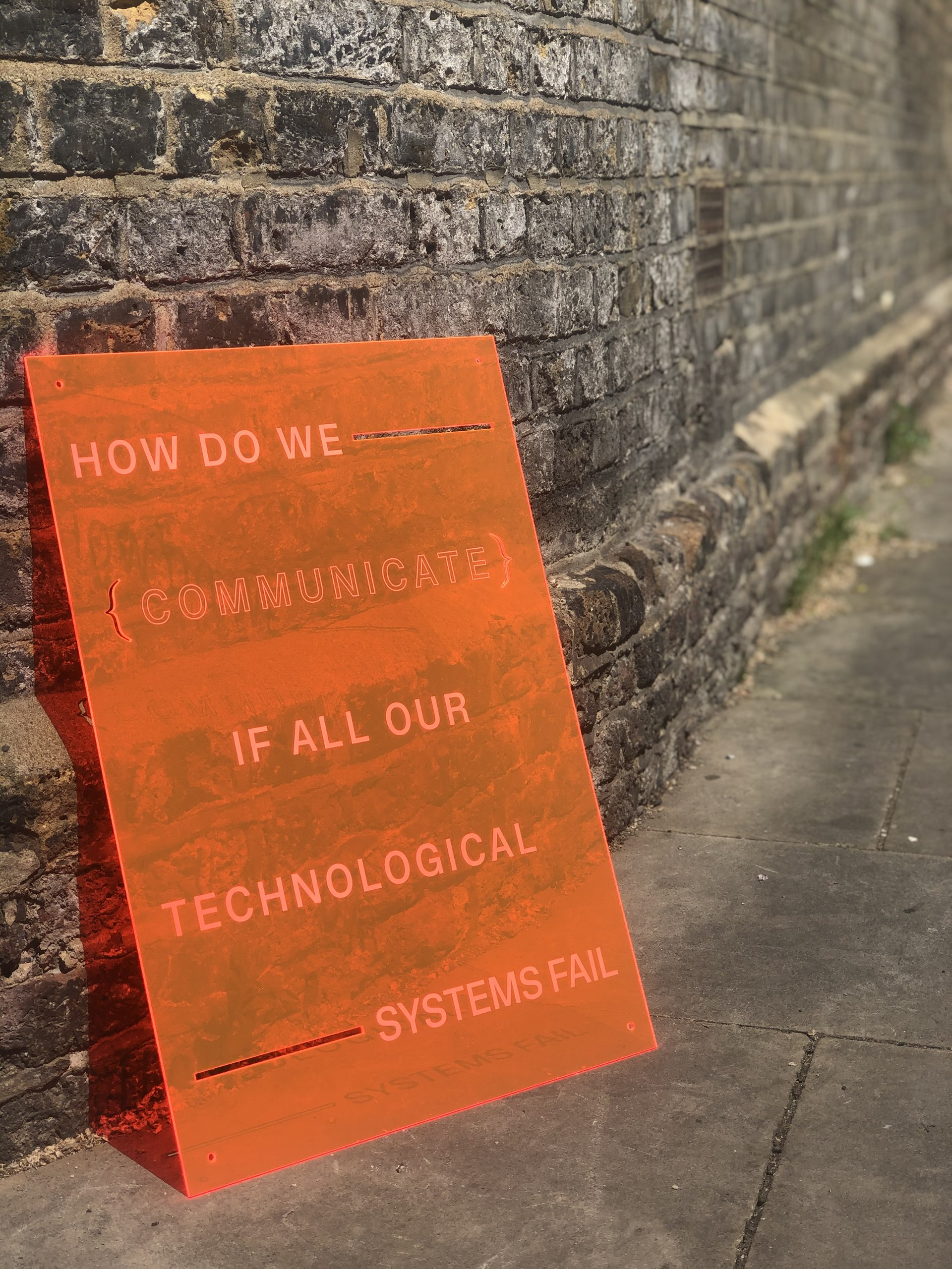 HOW DO WE COMMUNICATE IF ALL OUR TECHNOLOGICAL SYSTEMS FAIL