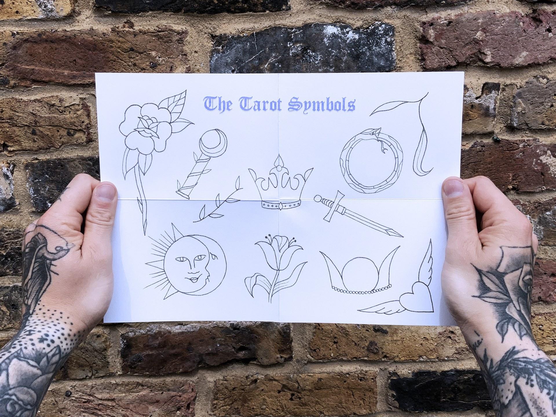 The Tarot Symbols, visual booklet (A4, front)