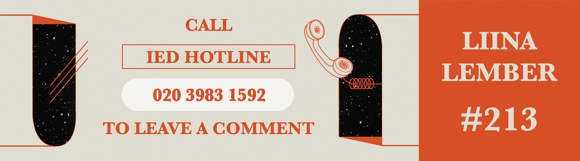 Would love to leave a comment? Look no further. Call IED hotline now to say hello.