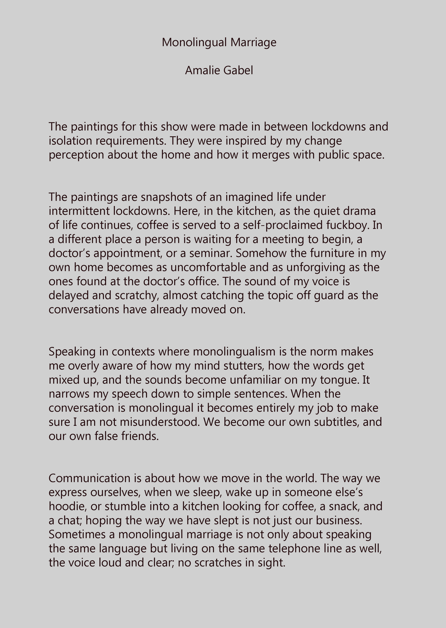 Exhibition Text