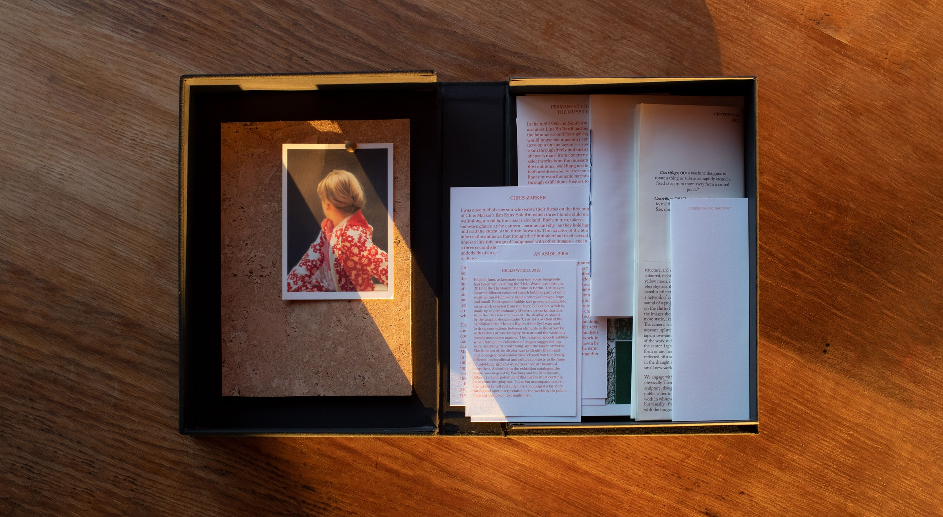 The Pinboard Project: Archive Box. Image: 'Betty', Gerhard Richter, 1988.