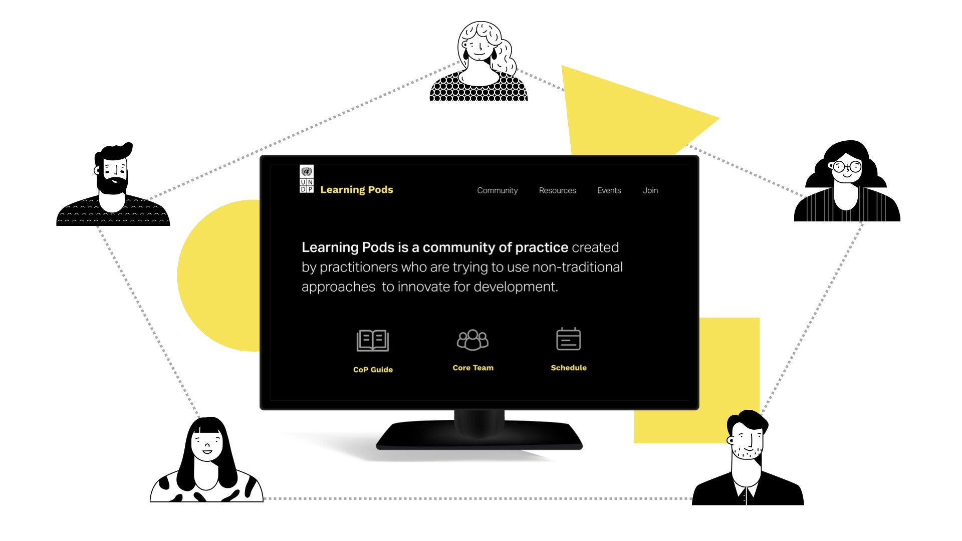Learning Pods for the people in the system to engage in shared learning and build a community of practice.