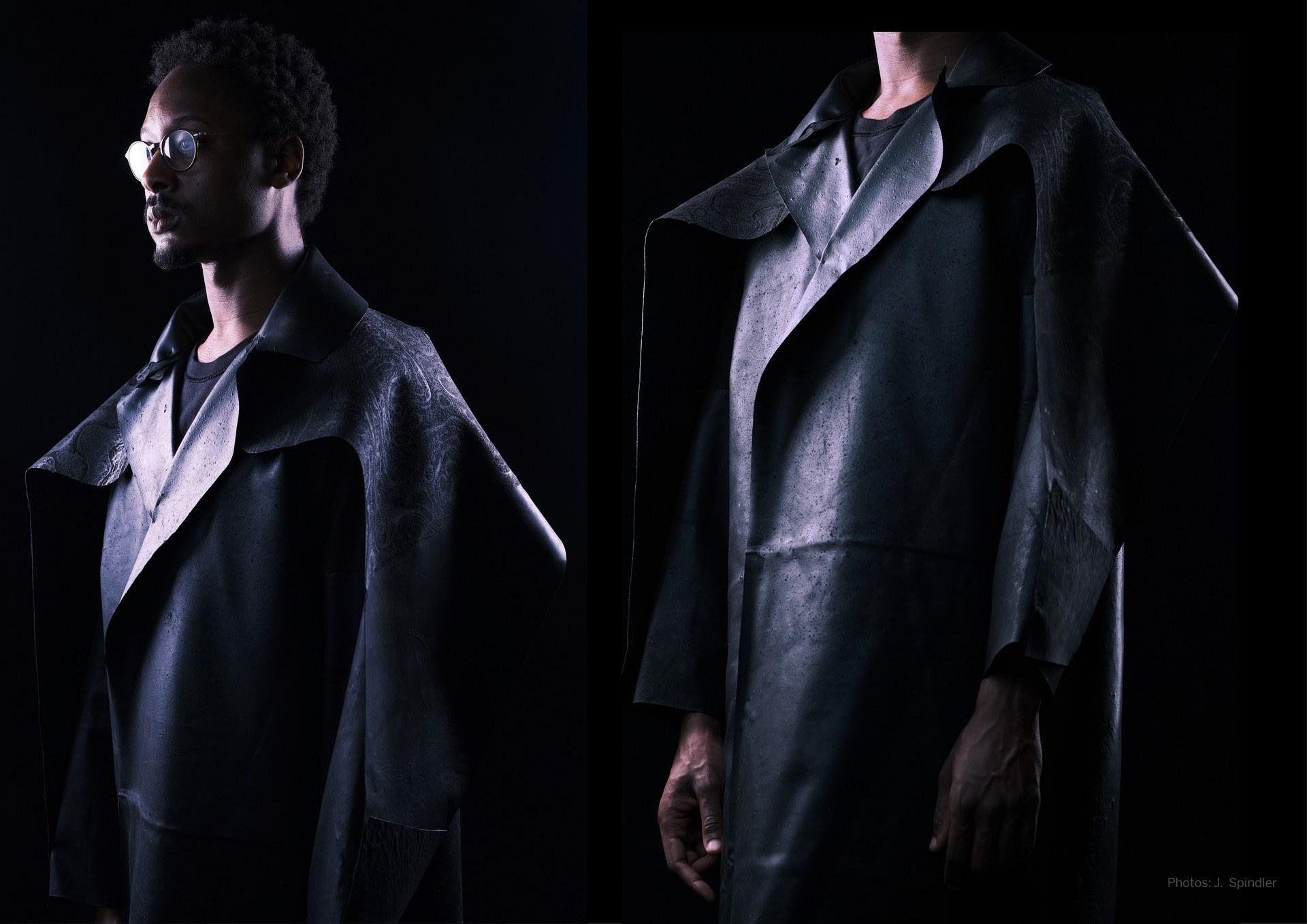 Algae leather coat