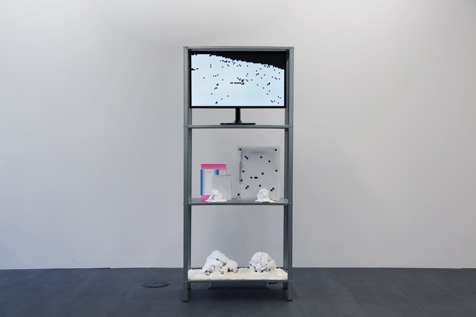 The shelf: the boundary between reality and virtual reality — Installation