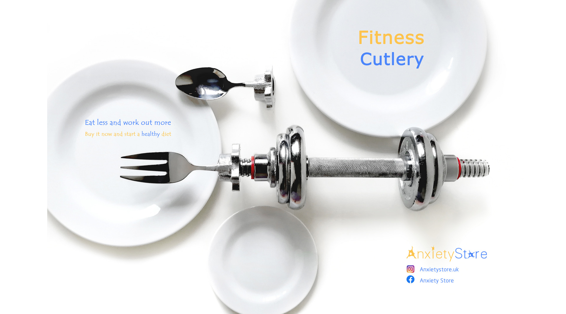 A poster of fitness cutlery