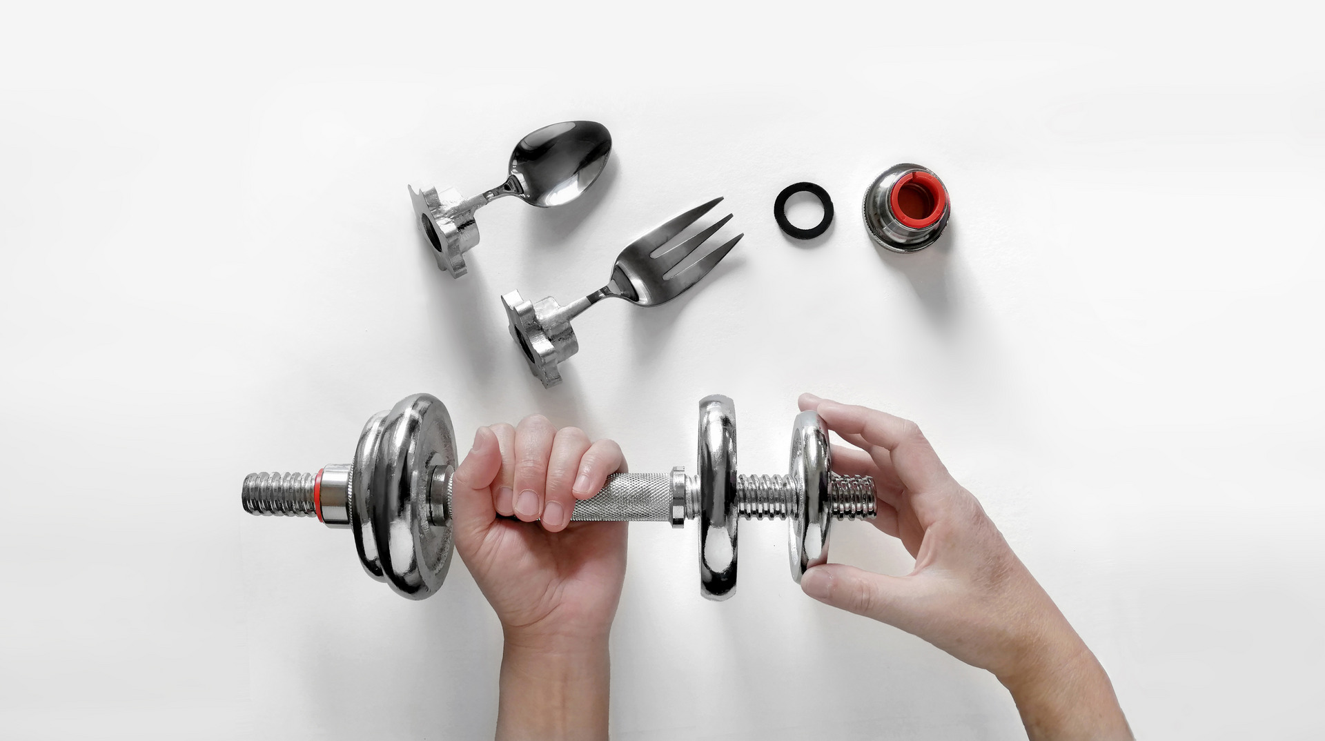 Adjust the weight of dumbbell cutlery