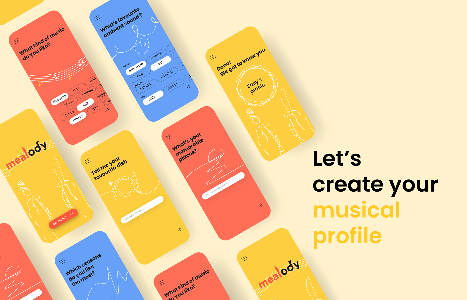 Mealody app to create your musical profile