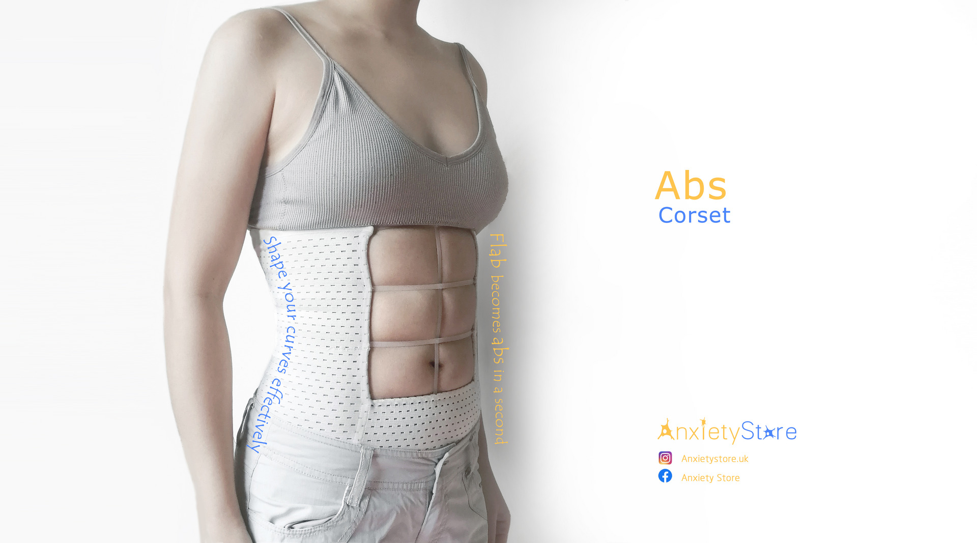A poster of abs corset