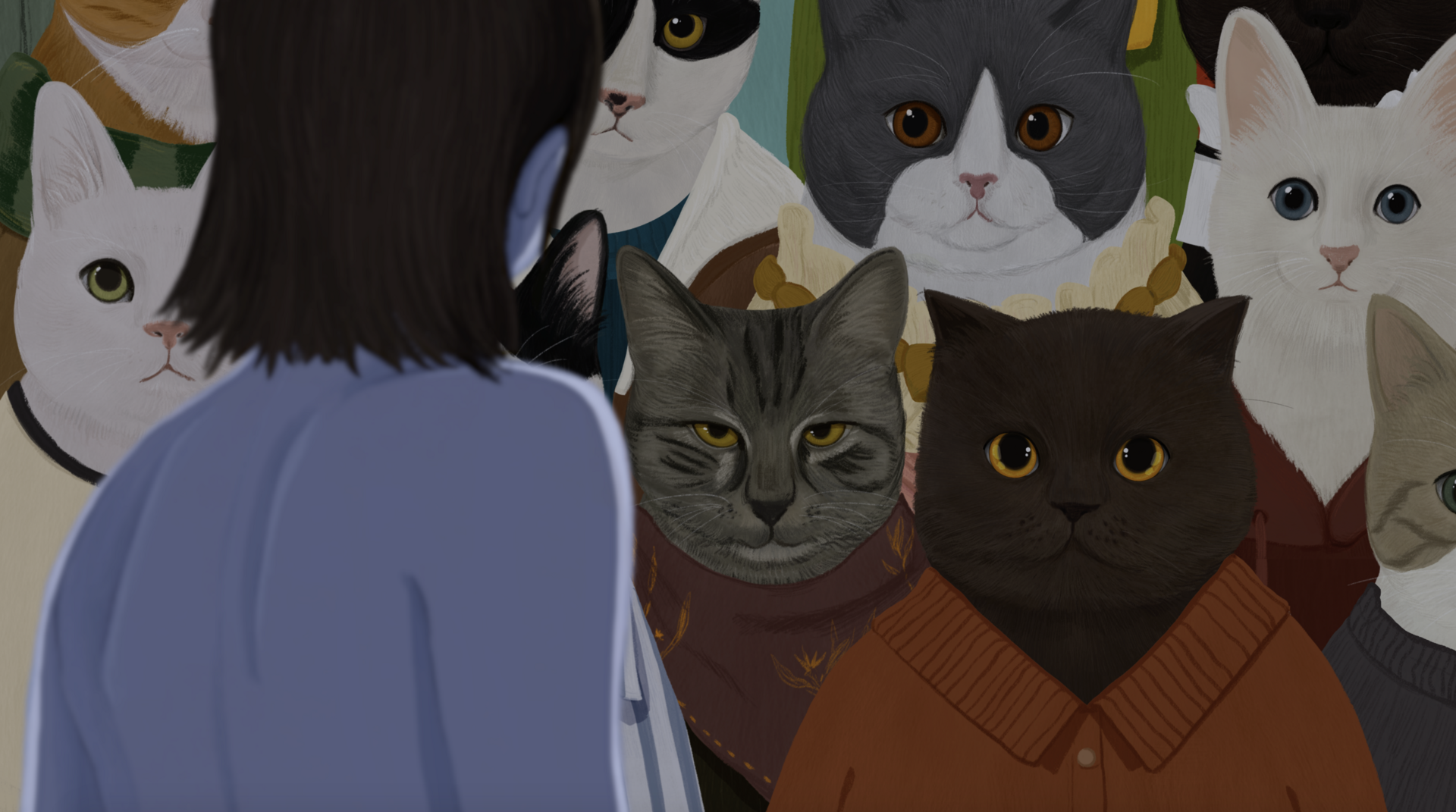 Being Watched by Cats (Human's  Perspective)