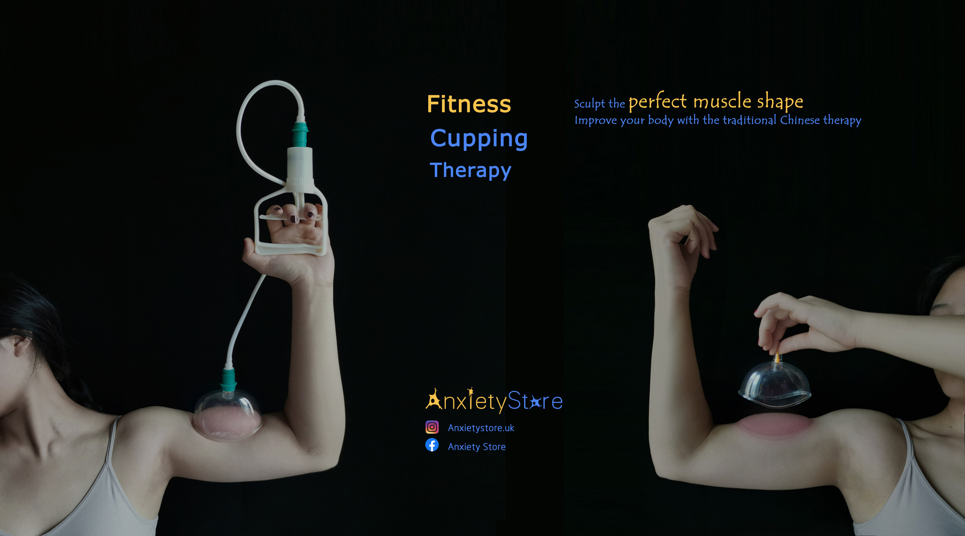 A poster of fitness cupping therapy