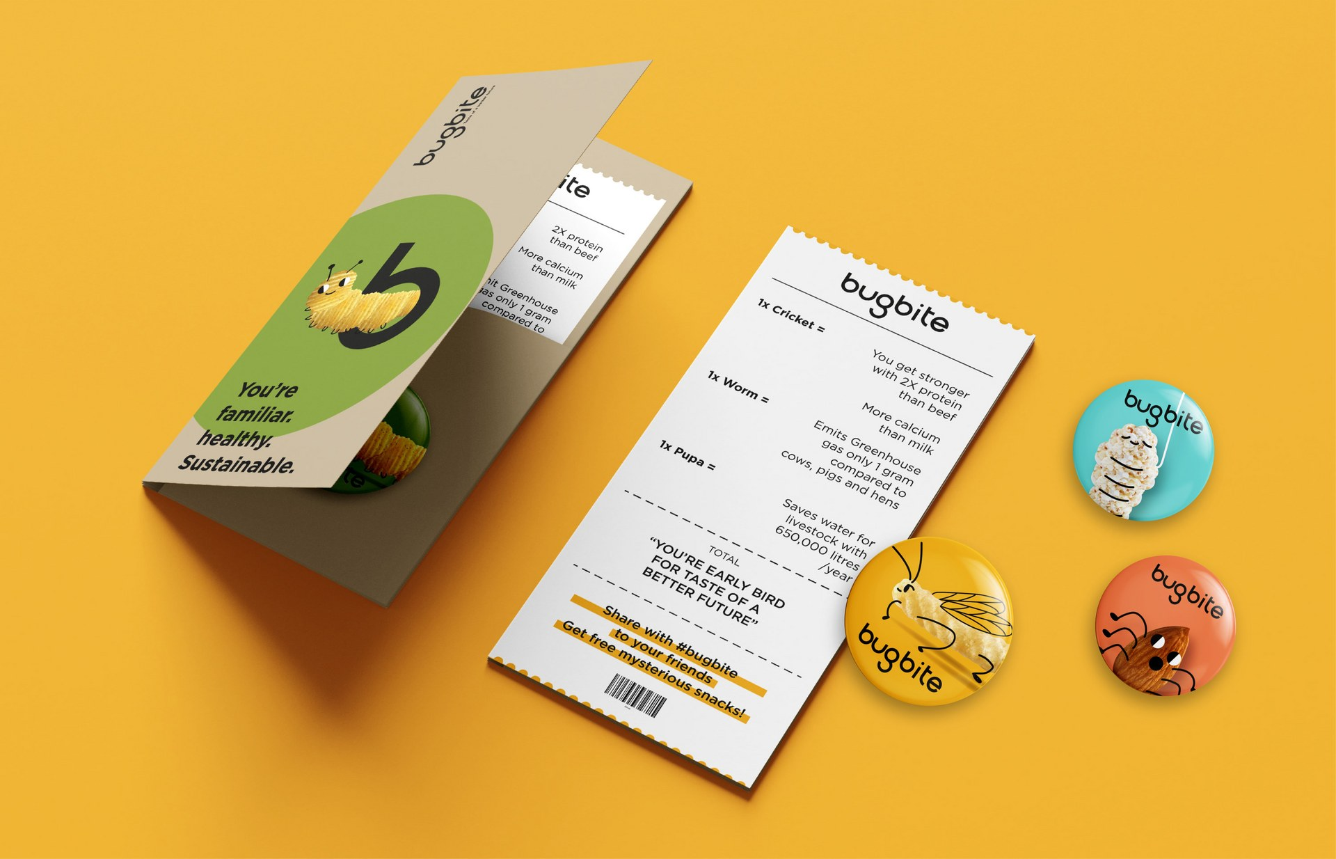 Bugbite special receipt — telling about benefits of eating bugs in terms of health and environment
