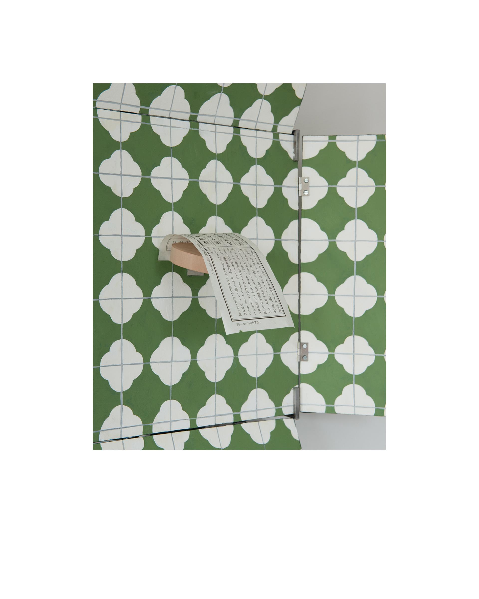[Detail] Aluminium, chemiwood, hinge, Japanese paper, paint, plywood, mild steel