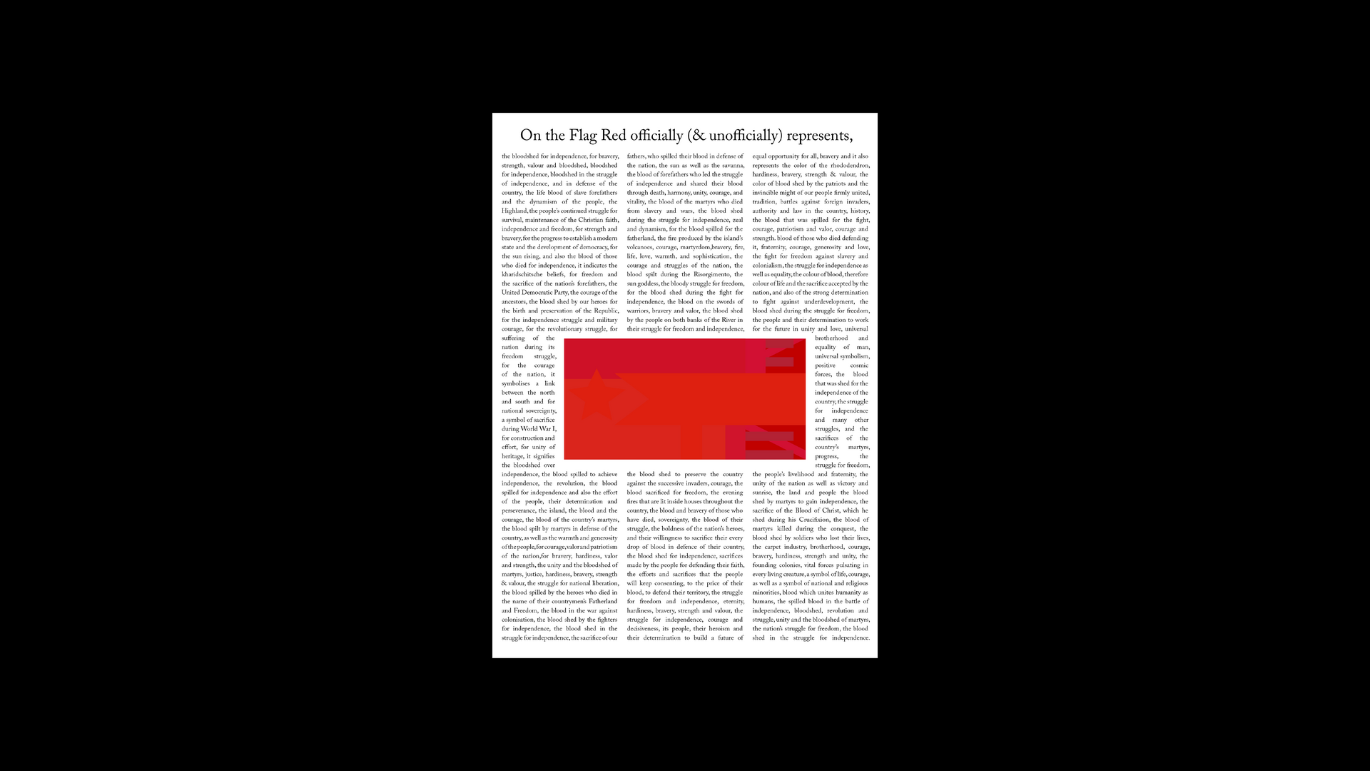 The Flag(s) (Red) Constitution