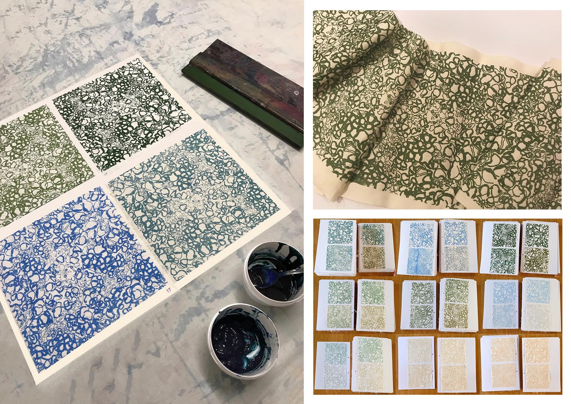 Developing & Testing Algae Print Pastes