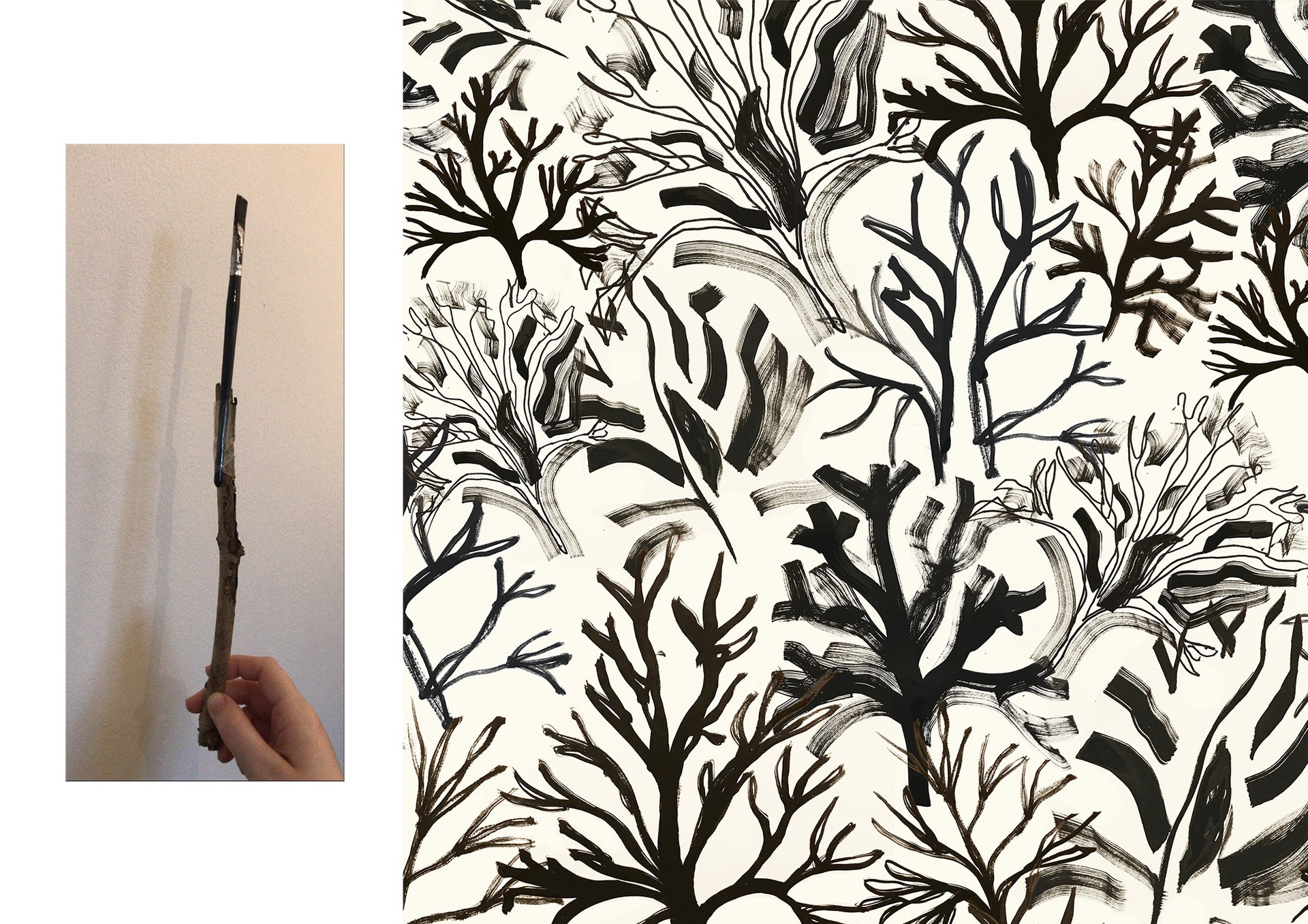 Seaweed Print Design
