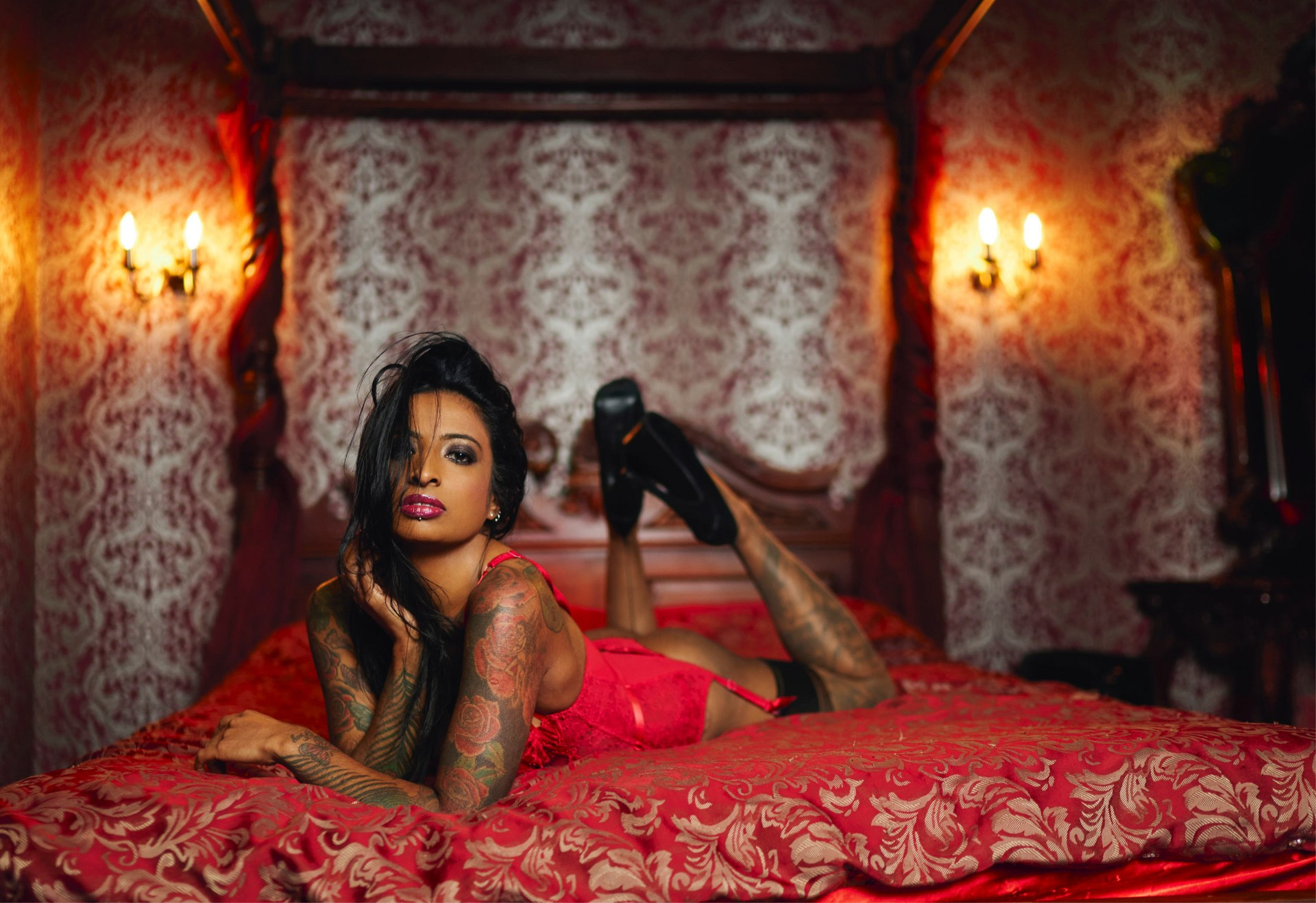 'Red and Black Boudoir'