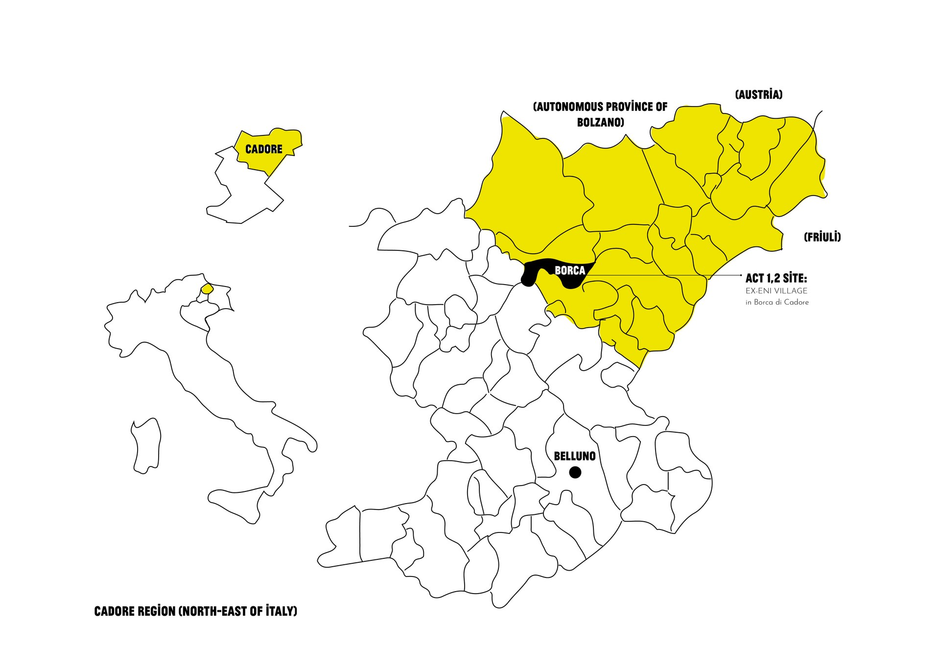 Site Overview: Ex-Eni Villave, Borca di Cadore, Veneto, Italy